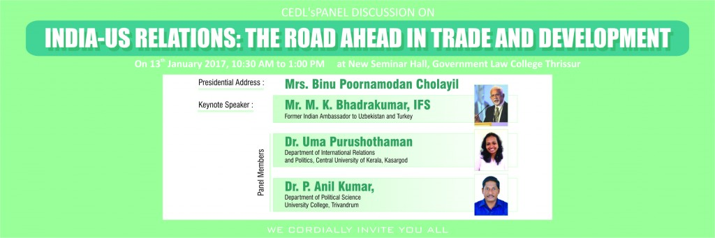 Upcoming Events | Panel Discussion on India-US Relations: The Road